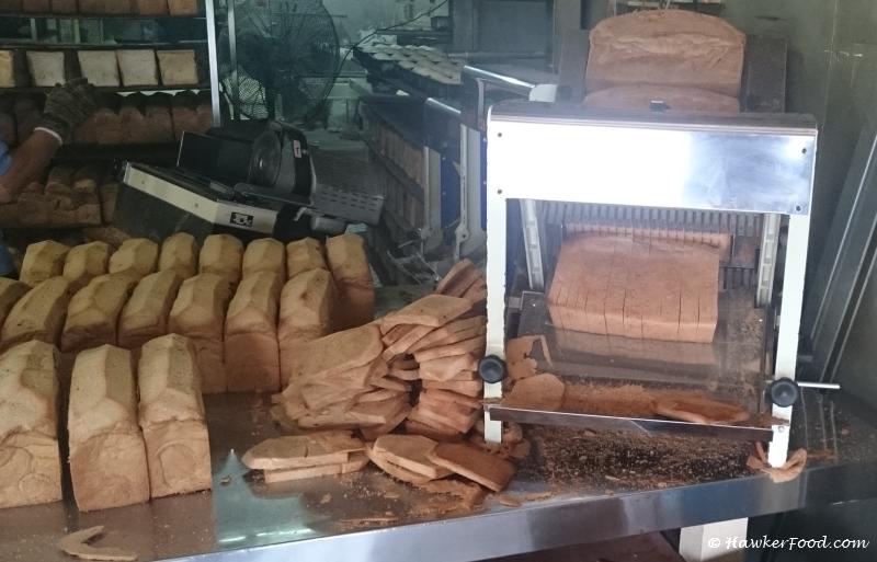 Sing Hon Loong Bakery bread slicing upclose