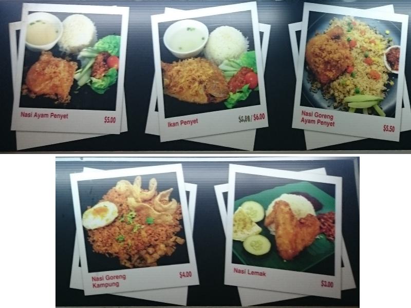Warong Penyet Super selections
