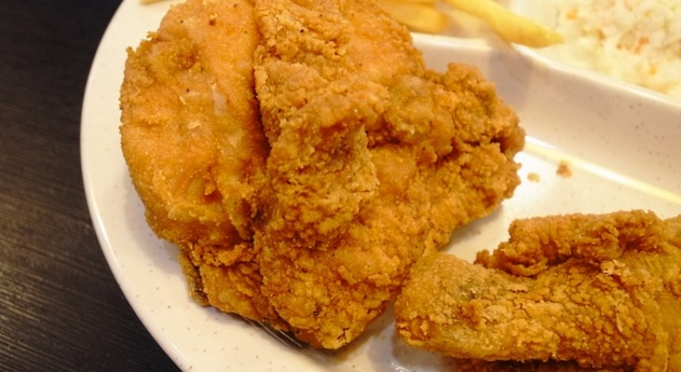 arnolds fried chicken up close