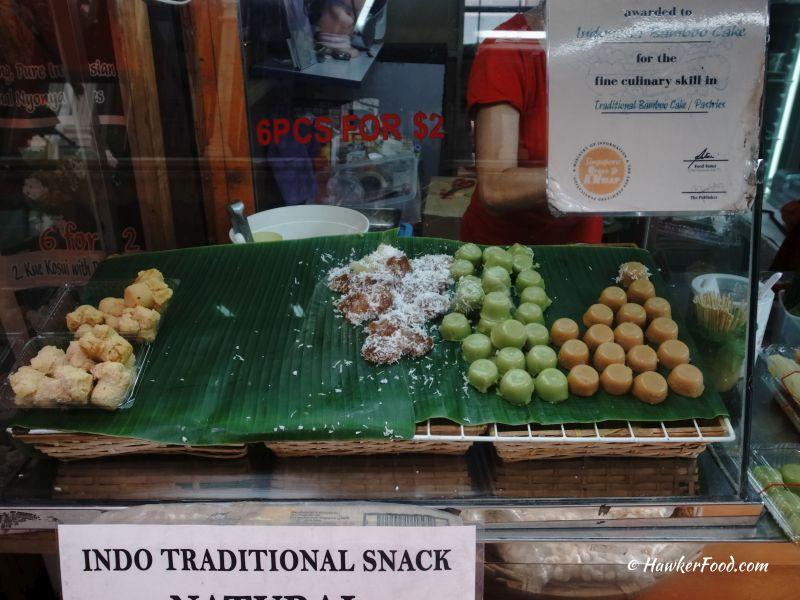 Indonesian Bamboo Cake kueh