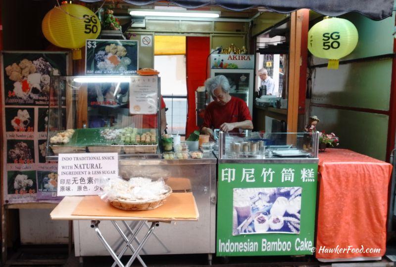 Indonesia Bamboo Cake Stall