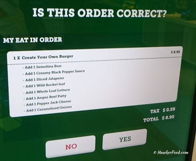 McDonald's Order Confirmation