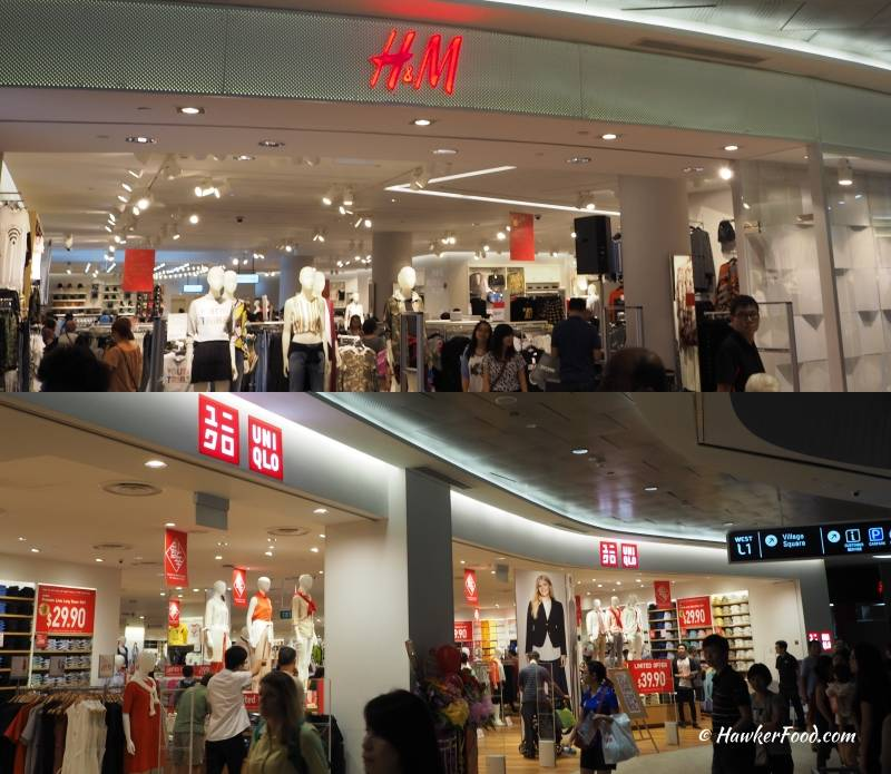 waterway point H&M Uniqlo