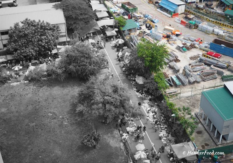 Sungei Road Thieves Market Aerial View
