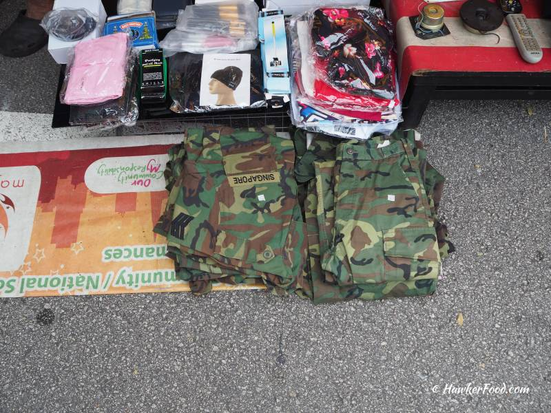 Sungei Road Thieves Market Army Uniform