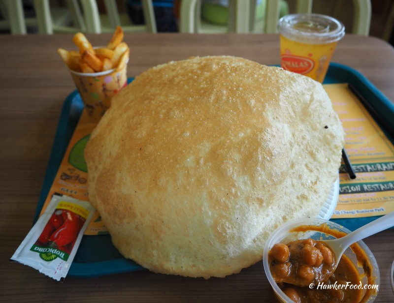 Komala's Restaurant Bhattura Meal