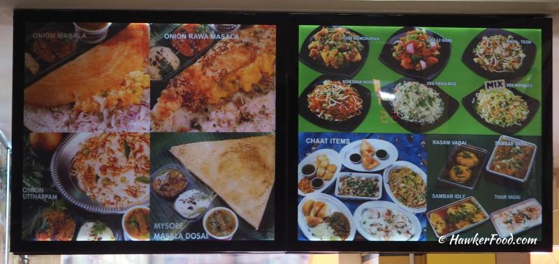 Komala's Restaurant Menu