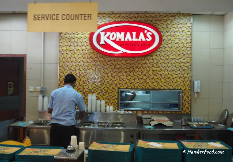Komala's Restaurant Service Counter