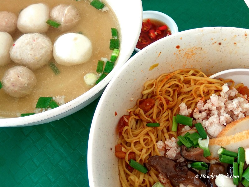 chun fu fishball minced meat noodle bak chor mee