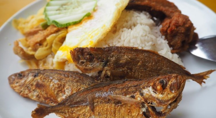Ponggol Nasi Lemak ikan kuning