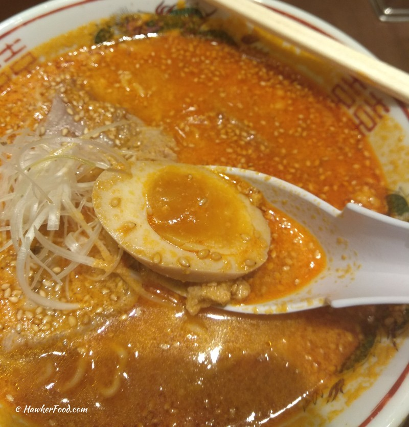 Baikohken Ramen tantanmen egg
