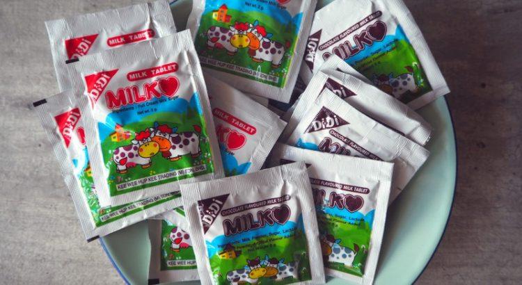 Teck Leong Lee Kee milk tablets