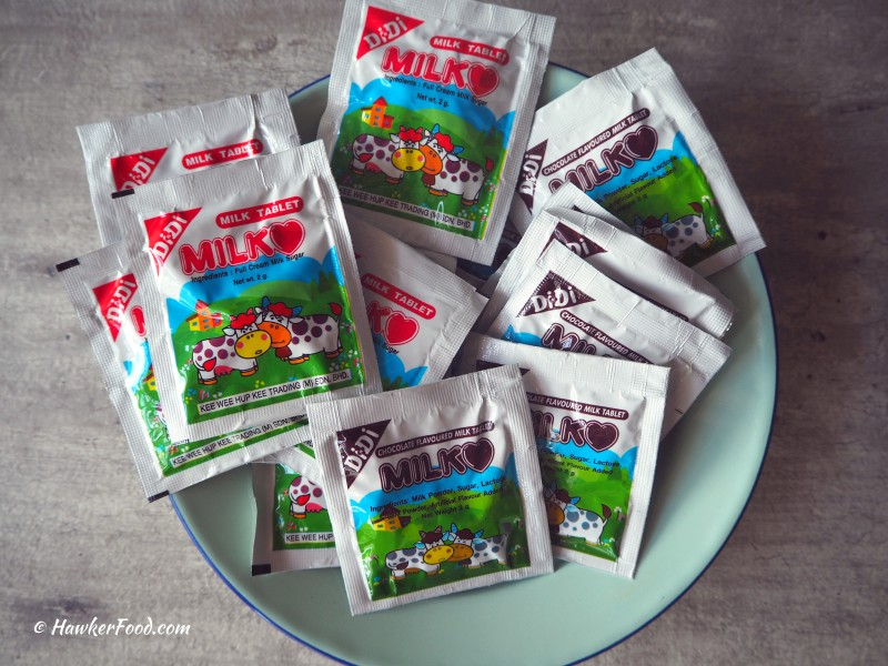 Teck Leong Lee Kee milk tablets
