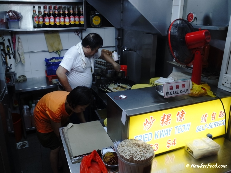 Fried Cockles Char Kway Teow stall